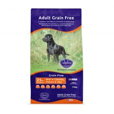 Alpha Grain Free Dog Food 15kg