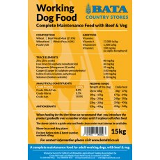 Bata Working dog Food 15KG