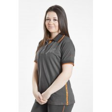 Firefoot Ladies Crofton Polo Top Charcoal / Orange