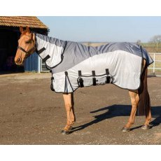 Equestrian King Hybrid Fly Rug Waterproof Back