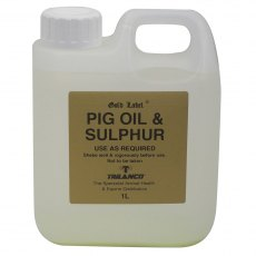 Gold label pig oil and sulpur 1ltr