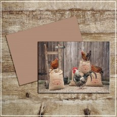 Kitchy & Co Greetings Card Improved blend Clucking good corn