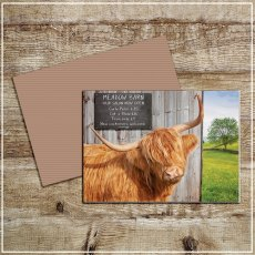 Kitchy & Co Greetings Card Meadow Barn