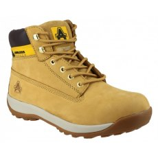 AMBLERS SAFETY LACE UP BOOT TAN FS102