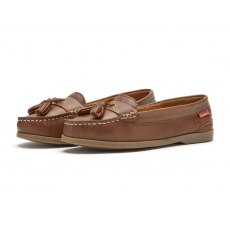 Chatham Arora Tassel Loafer Brown