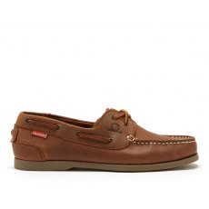 Chatham Galley II Leather Boat Shoes Mens Dark Tan