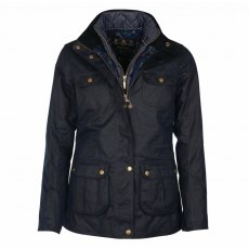 BARBOUR CHAFFINCH WAX NAVY Jacket Navy
