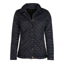 BARBOUR QUAIL QUILT JACKET NAVY