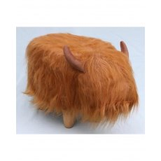 Dillis Highland cow footstool