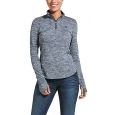 Ariat Gridwork 1/4 Zip Base layer Dark Grey