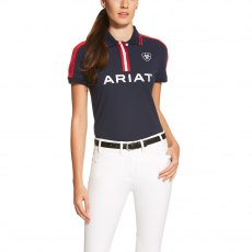 ARIAT LADIES NEW TEAM POLO SHIRT NAVY
