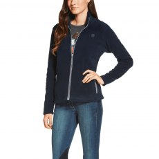 ARIAT BASIS FULL ZIP FLEECE NAVY