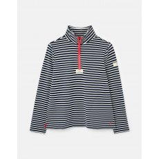Joules Pip Half Zip Sweatshirt Navy Cream Stripe