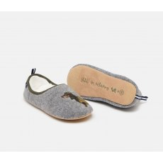 Joules Slippet Felt Mule Applique Slippers Daschund