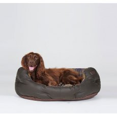 BARBOUR DOG BED WAX/COTTON OLIVE