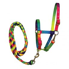 Elico Matterdale Rainbow Foal Headcollar and Leadrope Set