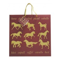 Maroon Horse Large Gift Bag