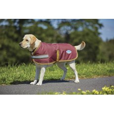 WeatherBeeta Parka 1200D Dog Coat Navy Red White