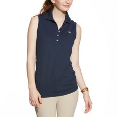 Ariat Prix Sleeveless Polo Navy