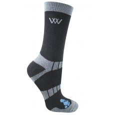 Woof Waffle Knit Bamboo Short Riding Socks - Pack of 2