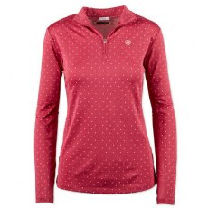 Ariat Sunstopper 1/4 Zip Rose Violet Dot