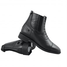 Mark Todd Zip Back Synthetic Jodhpur boot Black