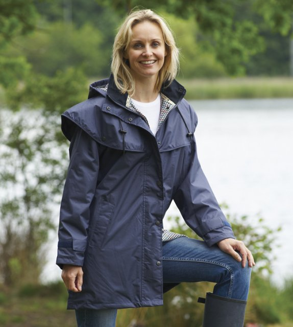 Champion-Outdoor Champion Windsor Navy Ladies Cape Jacket
