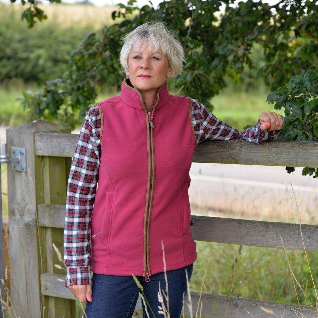 Jack Pyke Ladies Countryman Fleece Gilet in Demin