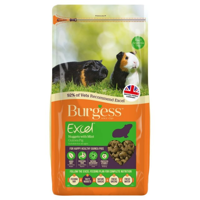 Burgess BURGESS Excel Adult Guinea Pig Nuggets with Mint