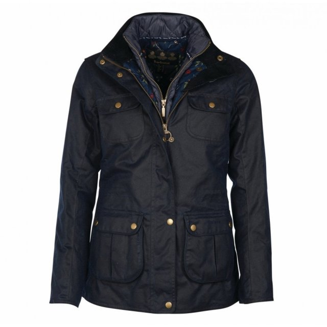 Barbour BARBOUR CHAFFINCH WAX NAVY Jacket Navy