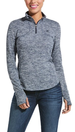 Ariat Ariat Gridwork 1/4 Zip Base layer Dark Grey